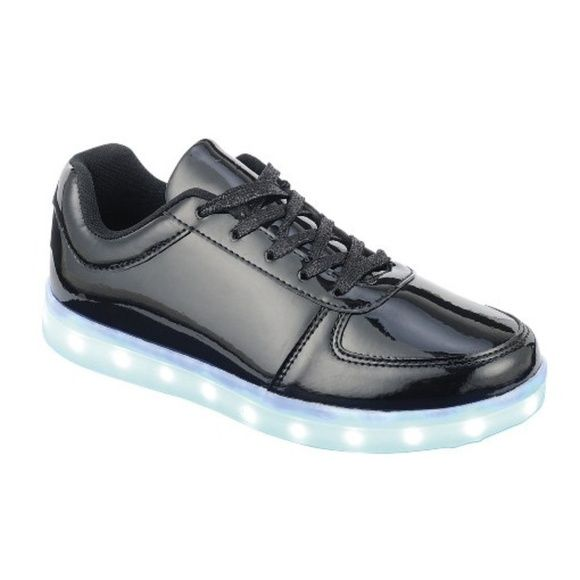 Women Fashion Lace Up Led Sequin Glitter Sneakers Rechargeable Light Up Shoes
