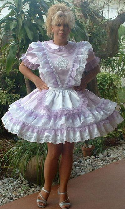 French Maid Dress Party Frilly Adult Sissy I Love