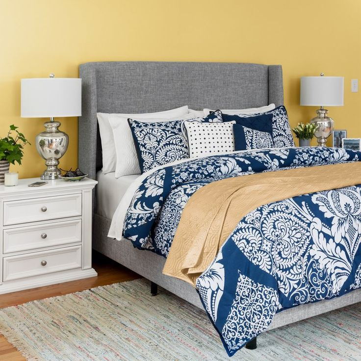 Alrai Upholstered Standard Bed Panel bed, Home decor