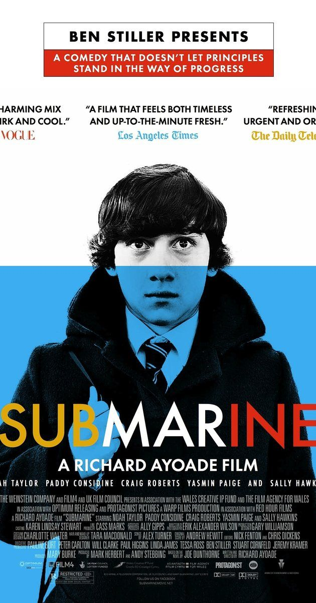 Directed by Richard Ayoade.  With Craig Roberts, Sally Hawkins, Paddy Considine, Noah Taylor. 15-year-old Oliver Tate has two objectives: To lose his virginity before his next birthday, and to extinguish the flame between his mother and an ex-lover who has resurfaced in her life.