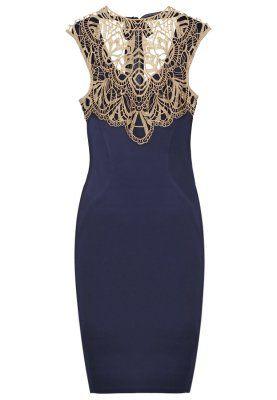 CORNELLI - Zakelijke jurk - navy/gold