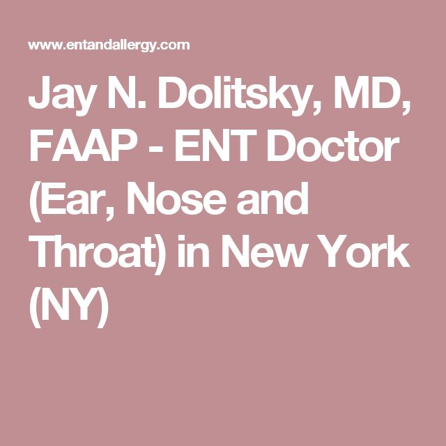 Jay N. Dolitsky, MD, FAAP - ENT Doctor (Ear, Nose and Throat) in New York (NY)