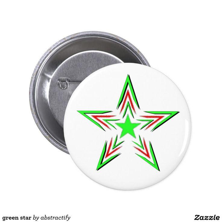 green star pinback button
