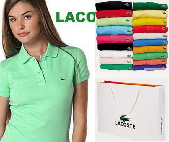Lacoste Womens Short Sleeve Polo Shirt Kelly Green