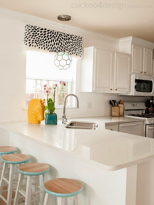 Spring Parade of Homes - White Kitchen with Pops of Color