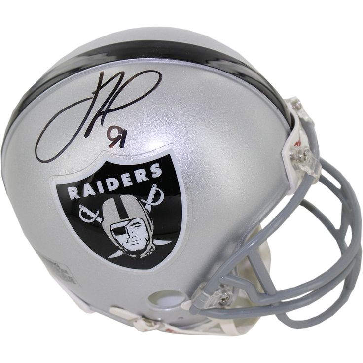 Justin Tuck Signed Oakland Raiders Mini Helmet - Raiders Defenisve End Justin Tuck has personally hand-signed this Raiders mini helmet-Ever since he came into the National Football League in 2005 Justin Tuck was a beloved fan favorite as a member of the New York Giants. While in New York he was a two-time Pro Bowl Defensive End for the New York and captured two Super Bowl Championships. As one of the most popular Giants the two-time All Pro striked fear in opposing quarterbacks and was a key…