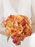 Oranje Bruidsboeketten