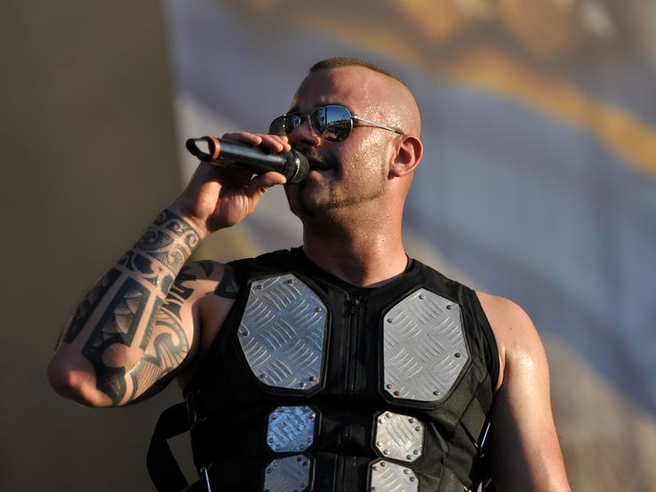 Joakim Brodén, lead vocalist of the Swedish power metal band Sabaton. A cool dude with a strong voice, manlier than most power metal singers.