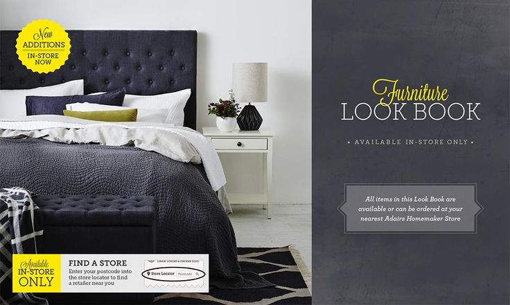 Lookbook | Adairs - master bed - headboard I want - one of three colour options.