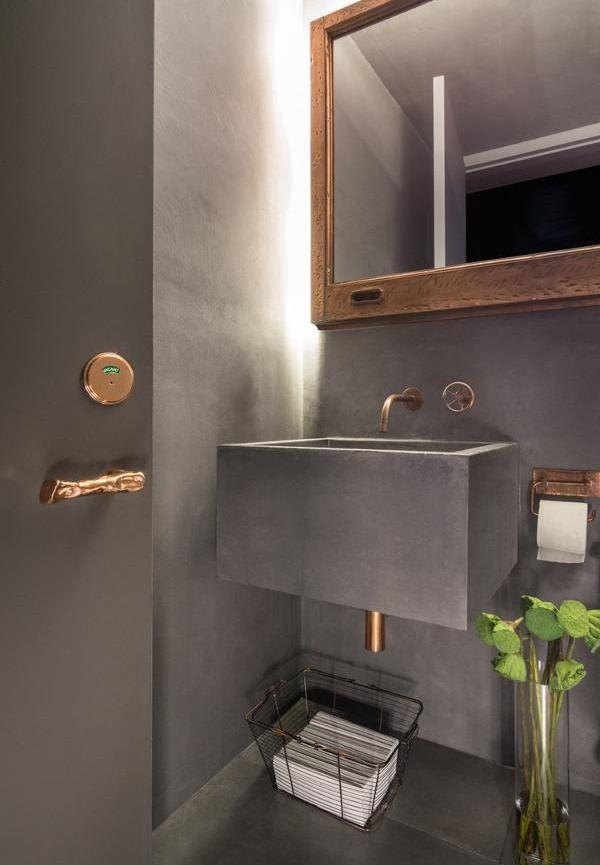 #Banheiros e #lavabos em #estiloindustrial
