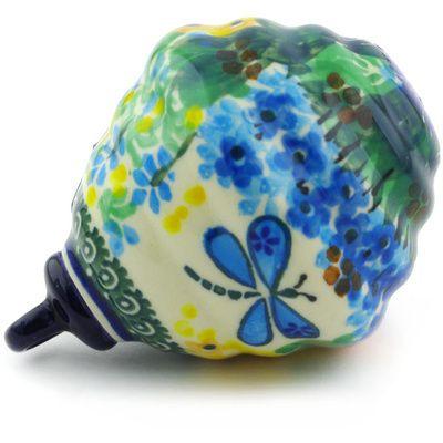 Polish Pottery 4-inch Ornament Christmas Ball | Boleslawiec Stoneware | Polmedia H6424G | Polmedia