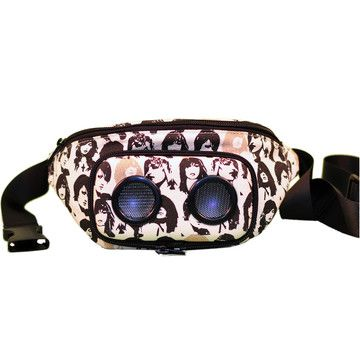 My bf wont let me wear a fanny pack...but if I could, this would be it.  Comes with a built in stereo system  awesome.  $65.00