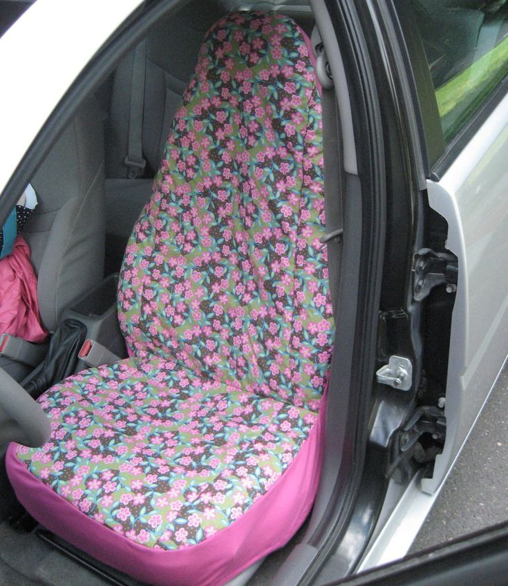 DIY car seat cover with step-by-step instructions. Shared by CarDecor.com.