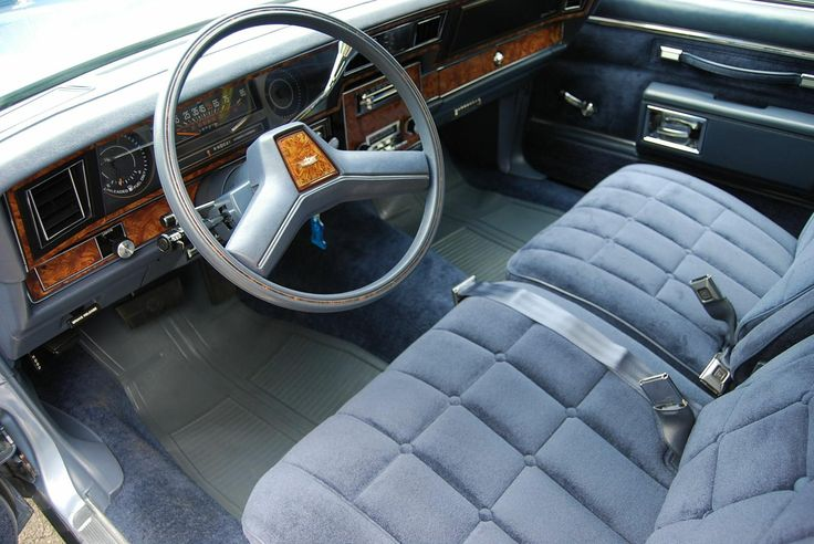 1984 Chevrolet Caprice Classic In Light Royal Blue Poly With Matching Royal Blue Velour Interior
