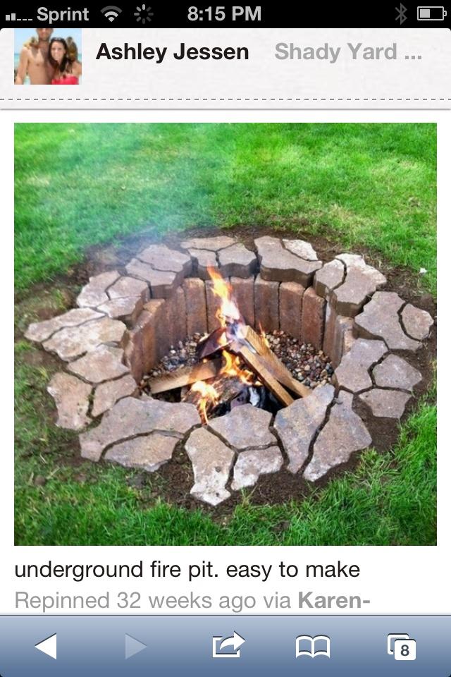 Sunken Fire Pit Back Yard Pinterest Sunken Fire Pits