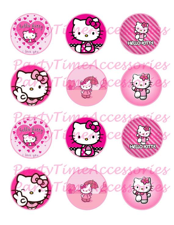 Hello Kitty Printable DIGITAL file for by PartyTimeAccessories
