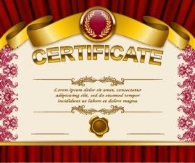 Vector certificate template exquisite vector 09