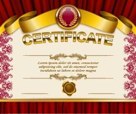 Vector certificate template exquisite vector 09