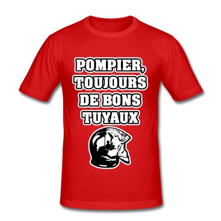 POMPIER, TOUJOURS DE BONS TUYAUX , T-shirt à s'offrir ici : https://shop.spreadshirt.fr/jeux-de-mots-francois-ville/les+t-shirts+pour+pompiers?q=T516877  #pompiers #leshommesdufeu #tshirt #sirène #alarme #feu #flammes #incendie #foyer #échelle #lance #rampe #sapeur #casque #caserne #secours #ambulancier #brancardier #volontaire #bénévole #braise #bouche #JEUXDEMOTS #FRANCOISVILLE #HUMOUR #DRÔLE #CITATION