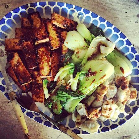 tofu frito & bok choy