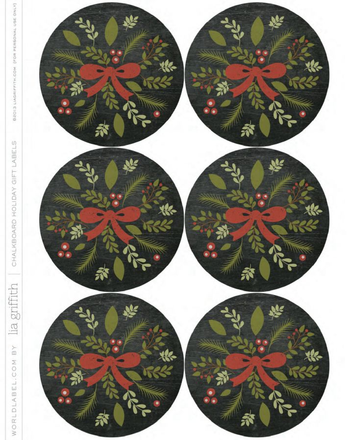 ... food gifts. | Christmas Labels and Christmas Label Templates