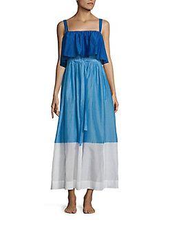 Diane von Furstenberg - Two-Tier Colorblock Dress