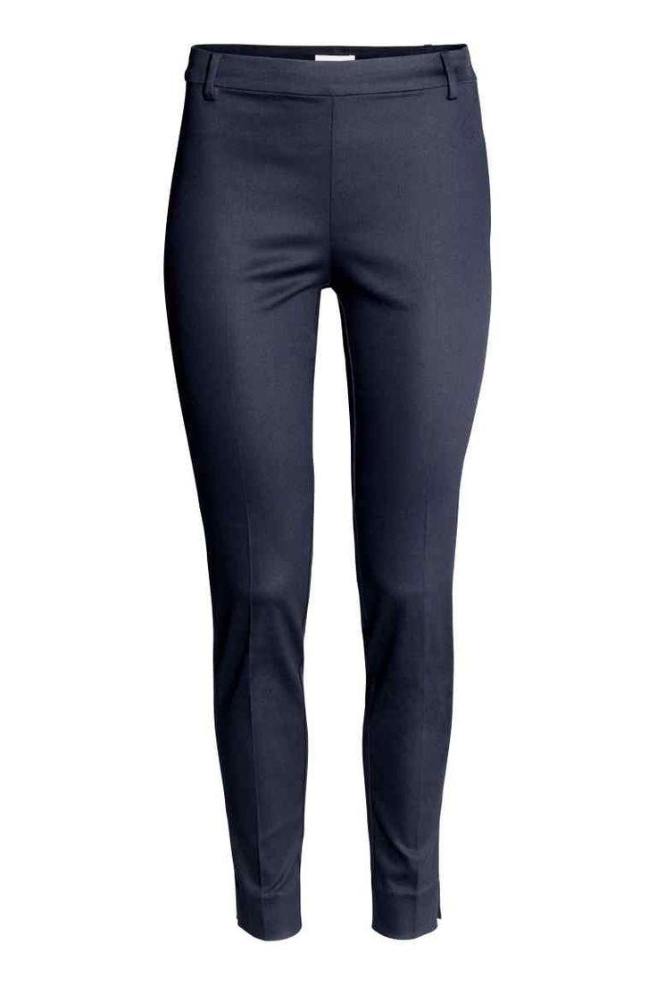 Pantalon cigarette - Bleu foncé - FEMME | H&M BE