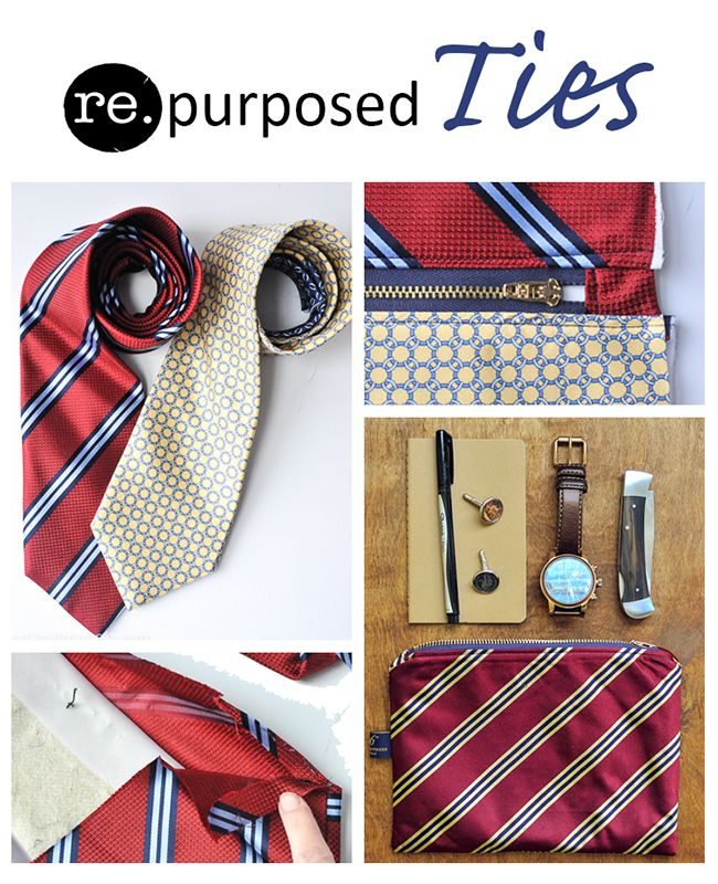 Great ideas to #reuse and #repurpose men's #ties