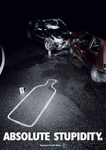 Absolut stupidity | advertising campaign < repinned by www.BlickeDeeler.de | Follow us on www.facebook.com/BlickeDeeler