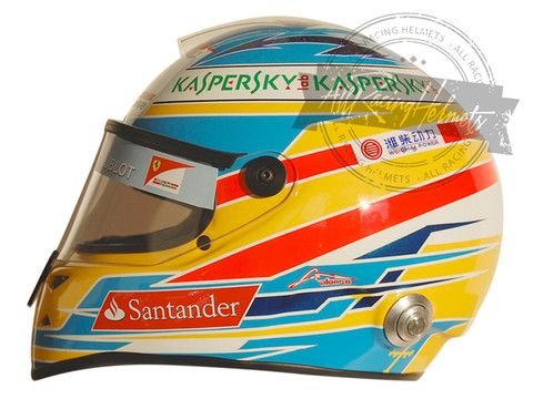 Fernando Alonso 2013 F1 Replica Helmet Scale 1:1