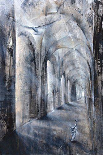 Wandbild auf Alu-Verbundplatte Annette Schmucker Licht und Schatten Architektur Gebäude Sakralgebäude Malerei Schwarz/Weiß