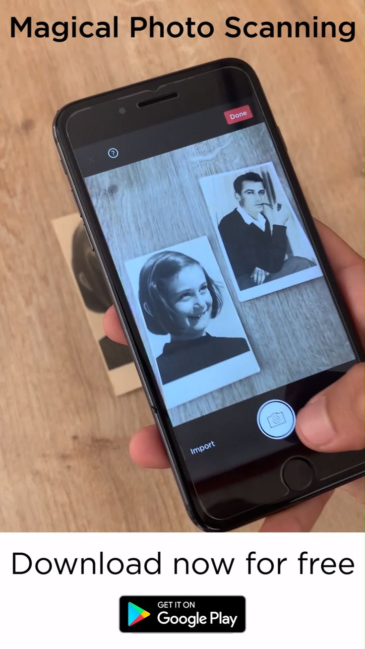 Easy to use app for saving old paper photos and sharing