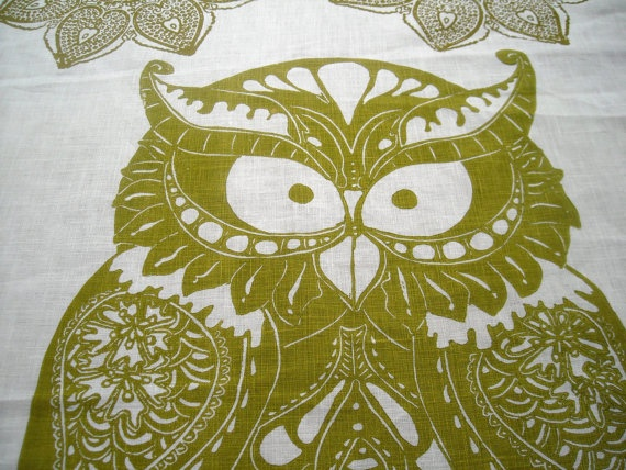 Owl in Olive :): Teas Towels, Tea Towels, Hands, Linens, Owls, Olives