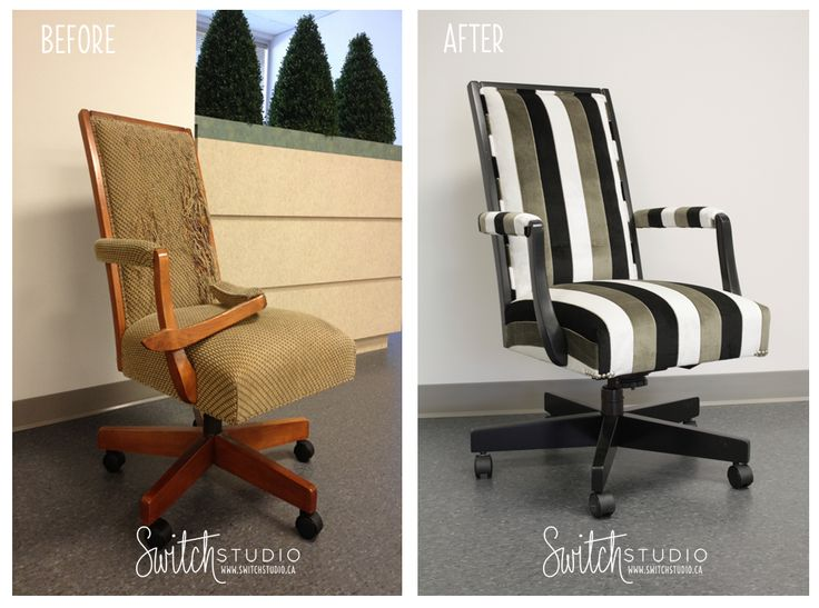 reupholster office chairs. Switch Studio Before U0026 Afters Reupholstered Office Chair In Gorgeous Stripe Fabric Http Reupholster Chairs