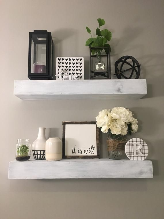 833306737287843560 Floating Shelf Decor Shelf Decor Living Room Rustic Floating Shelves