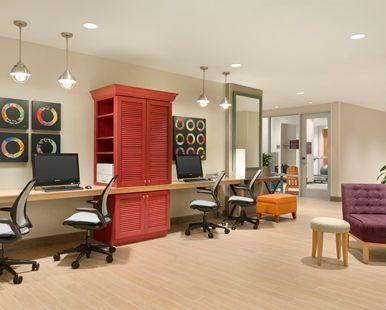 Home2 Suites by Hilton Saratoga Malta Hotel, NY - Lobby Business Service Area | NY 12020