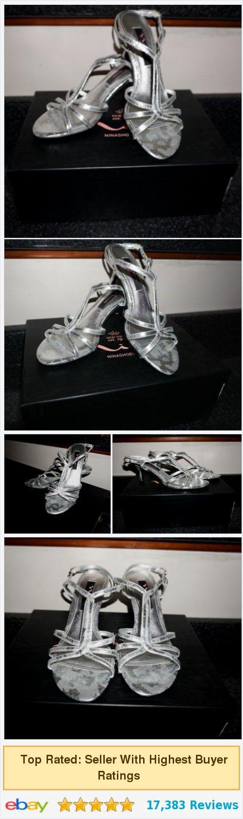 Nina Silver Galexy Metallic Strappy Heels Sandals Slingback #ebay @jboock http://www.ebay.com/itm/Nina-Silver-Galexy-Metallic-Strappy-Heels-Sandals-Slingback-Size-7-EUC-SL-/351949585260?hash=item51f1d47b6c