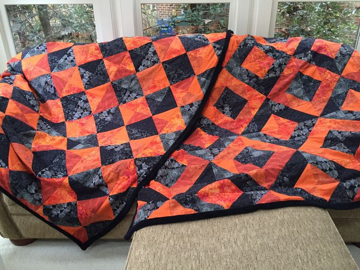 70 Best Images About Quilts Orange And Black On