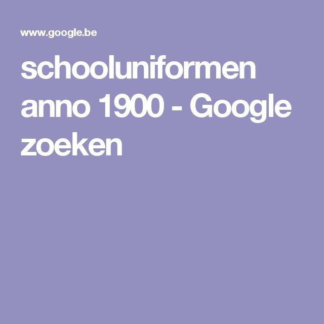 schooluniformen anno 1900 - Google zoeken