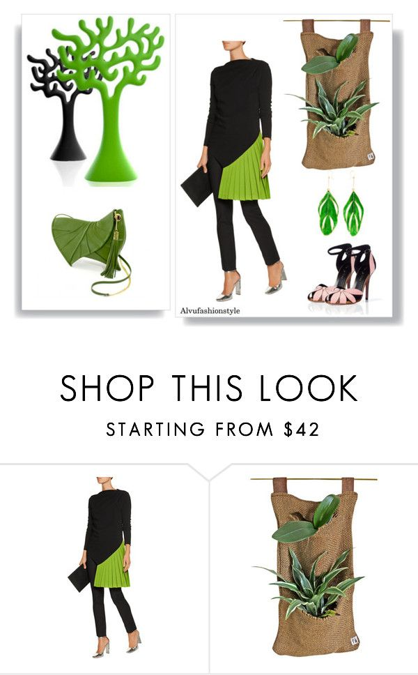 Leaf by Alvufashionstyle by alvufashionstyle on Polyvore featuring moda, Vionnet and Aurélie Bidermann