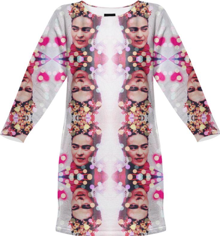 Frida Kahlo Art History Bokeh Glitter Dress from Print All Over Me