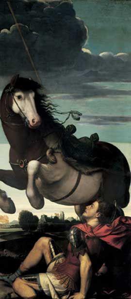 Moretto da Brescia : Caduta di San Paolo - S. Maria presso S. Celso - Milano -