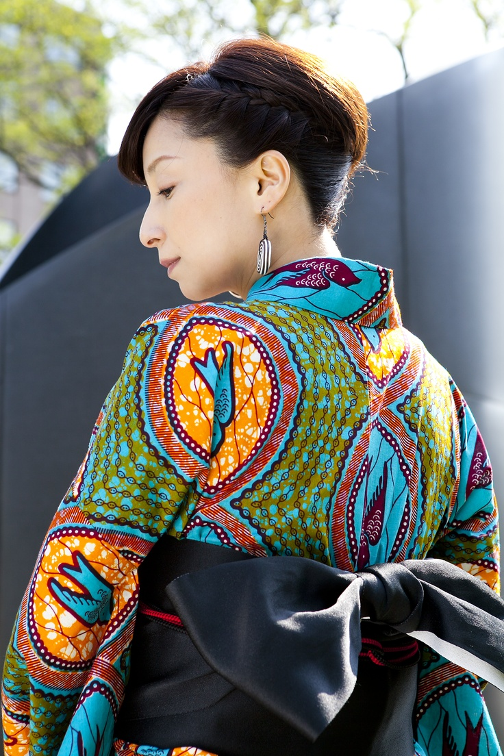 Hand made summer Kimono made in Japan available @ https://www.facebook.com/pages/Africa-Sunshine-Naya-Binghi/221943431159796