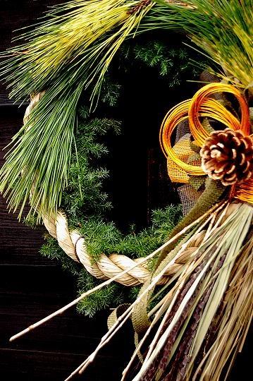 ひと葉のお正月飾り和モダン・粋