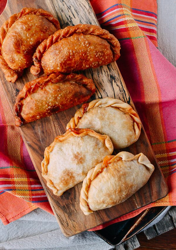 A Beef & Cheese Empanada Recipe: Baked OR Fried, by thewoksoflife.com