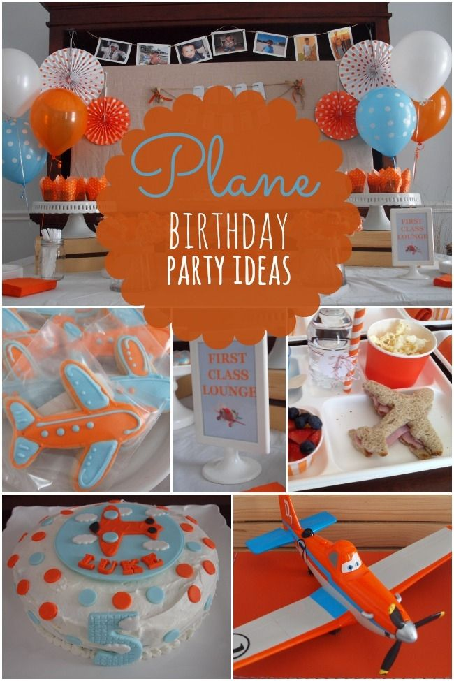 Boy's Plane Themed Birthday Party Ideas - Spaceships and Laser Beams