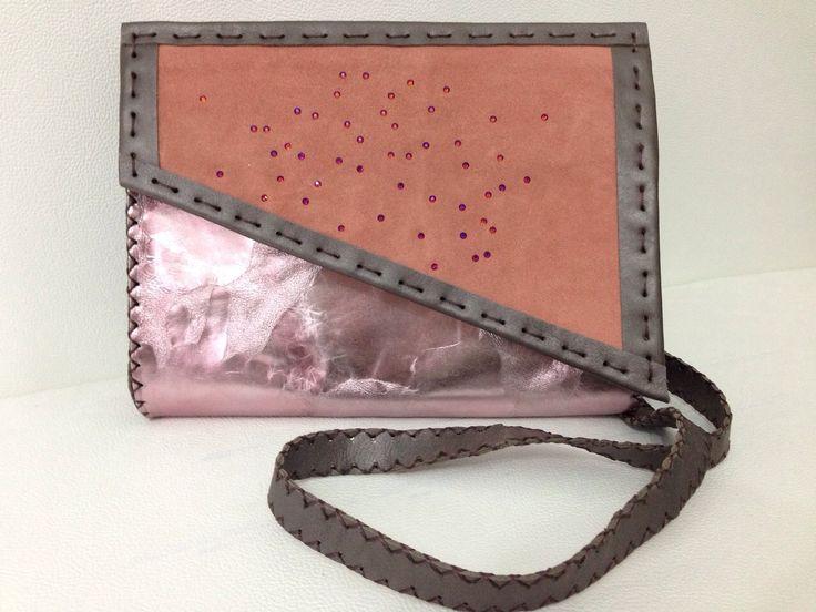Swarovski crystals embellished bag €80! #handmade #sunique #nicole #bag