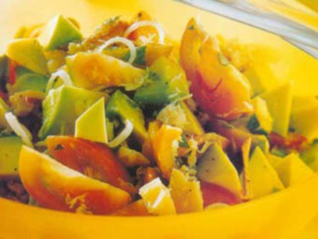 Salada de Caranguejo, Tomates e Abacate