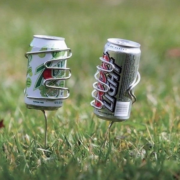 Lawn Drink HolderIdeas, Drinks Holders, Stuff, At The Beach, Entertainment Outdoor, Things, Stainless Steel, Fire Pit, Lawns Drinks