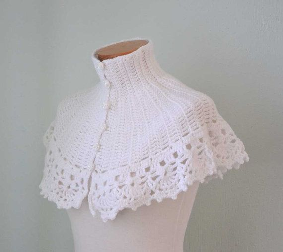 Crochet Stitch Ltr : ... crochet capelet crochet 8 white crochet berniolie sur forward white